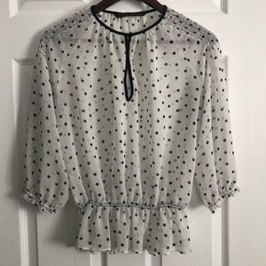 Zara Ladies Medium Polka Dot Top